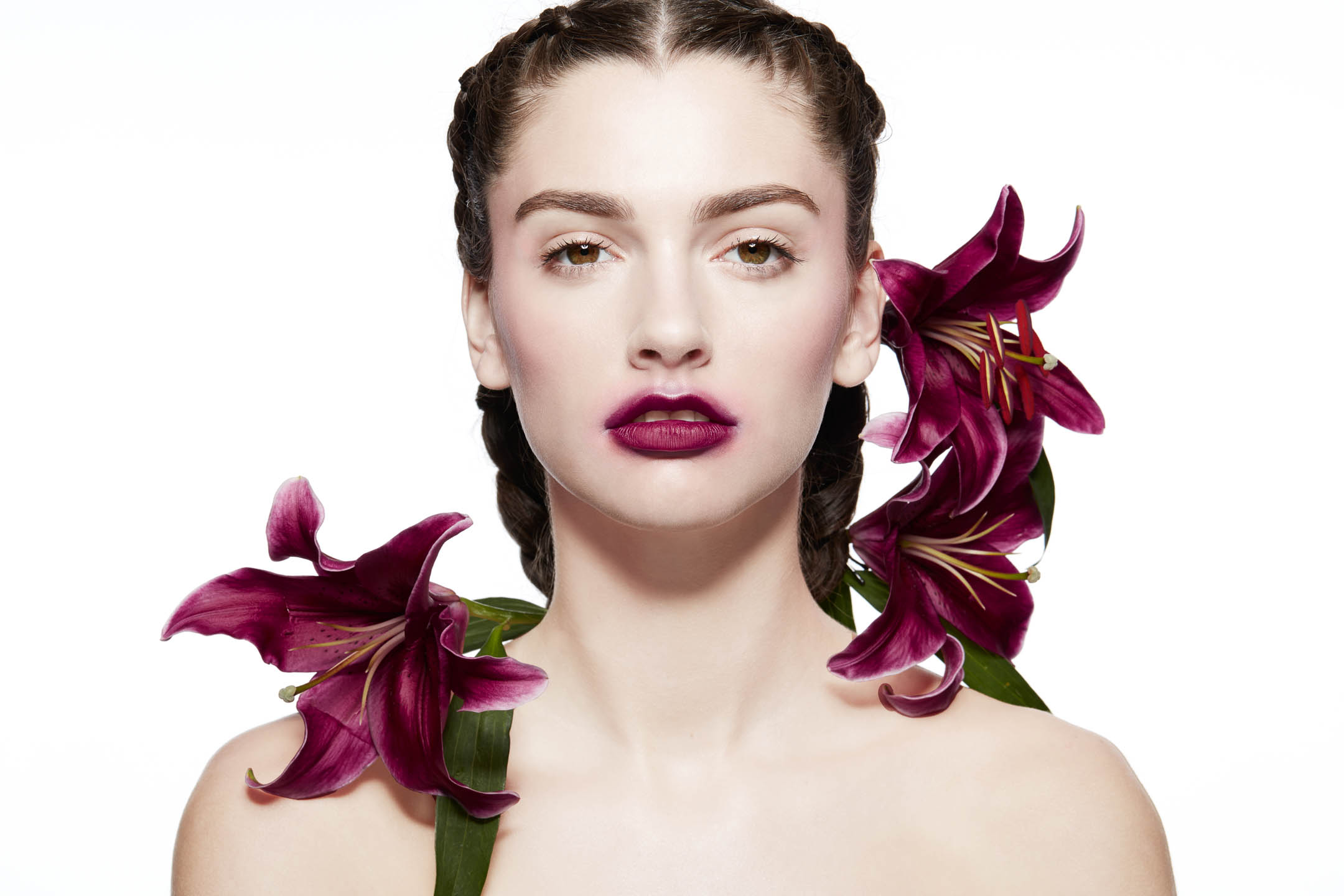 Model with Flowers