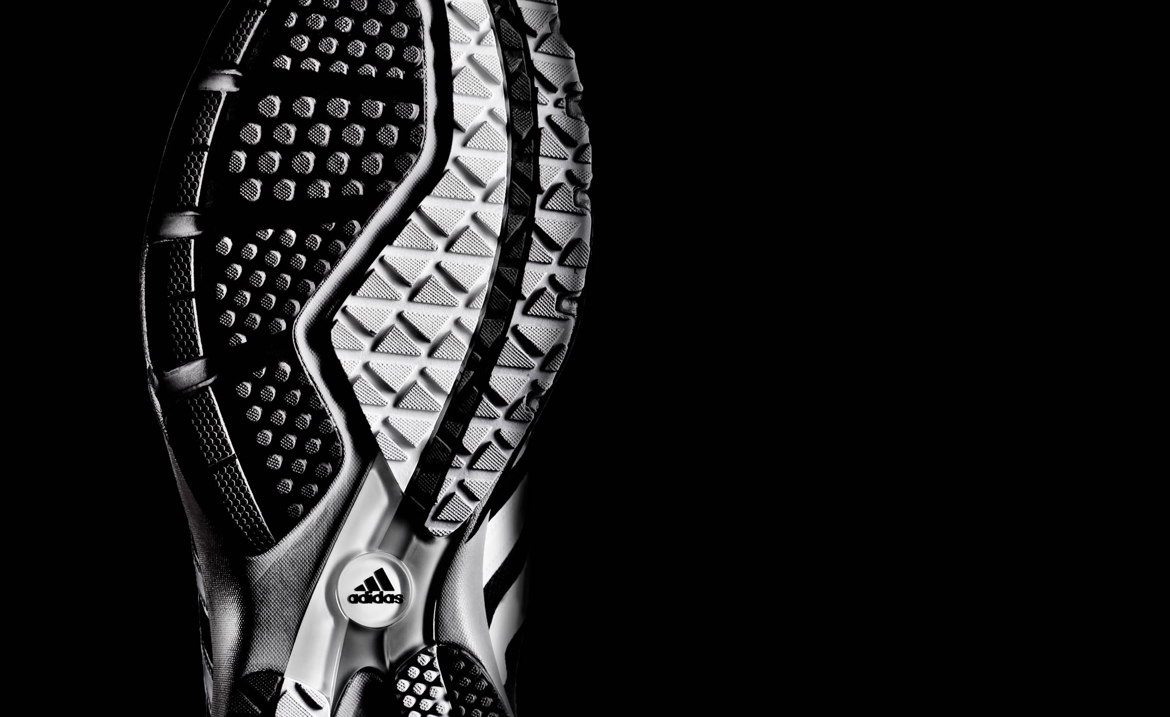 Adidas running footwear outsole by Steve Temple Photography