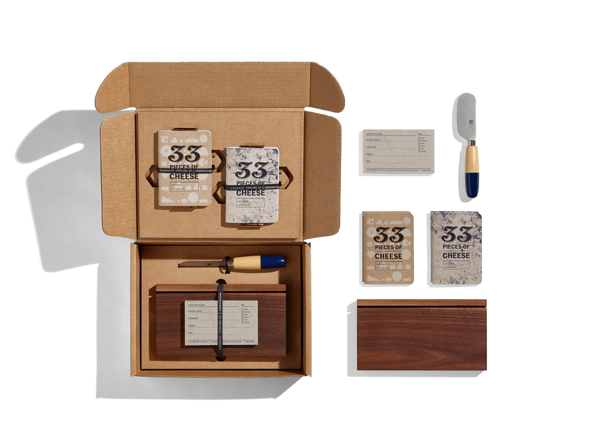 33 Books Co. cheese tasting kit by Steve Temple Photography