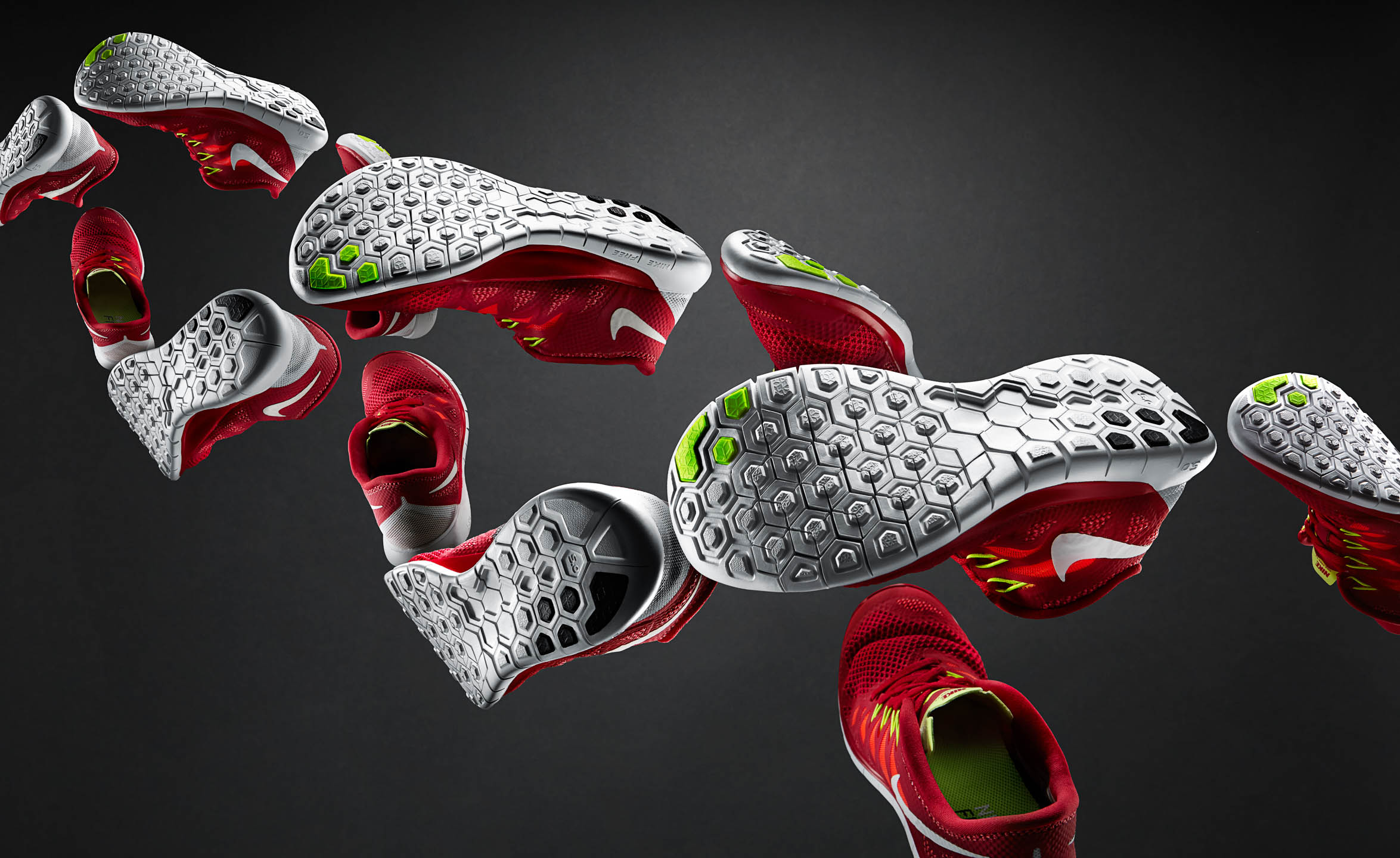 Nike Free 5.0 running shoe in DNA helix by Steve Temple Photography