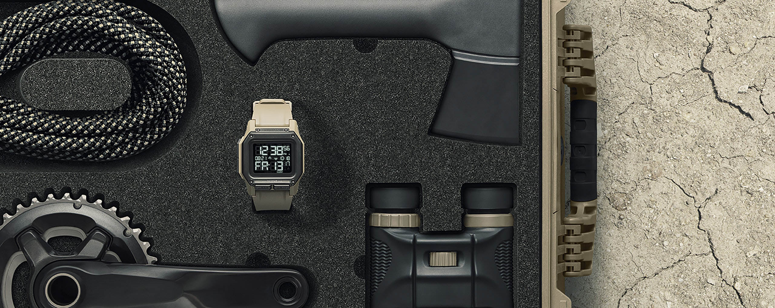 Nixon Regulus Watch in survival kit