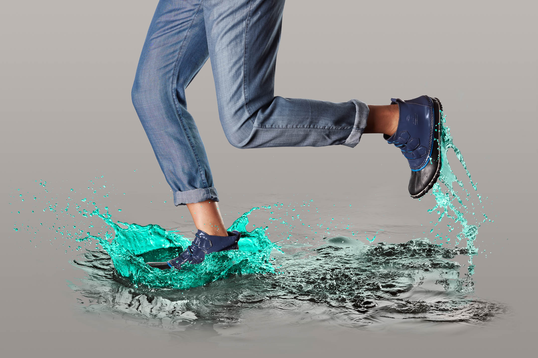 Sorel Ona Noturnal footwear splash by Steve Temple Photography
